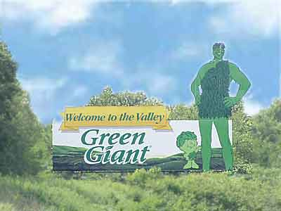 Green Giant Hwy sign