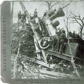 Train Wreck Near Kasota Minnesota 1875 - 2