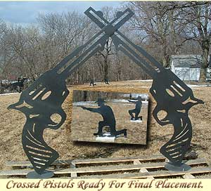 Crossed Pistols of Jesse James