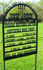 Jesse James Theme Park welcome sign